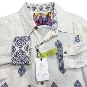 Robert Graham Spokane Woven Linen Button Shirt